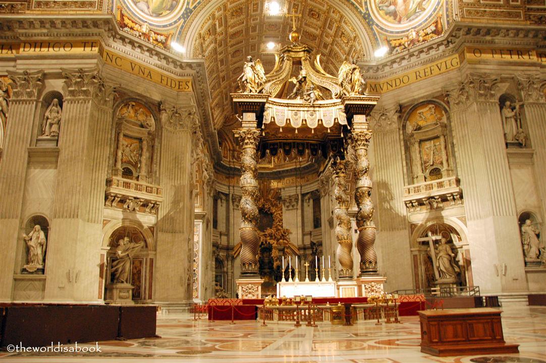 St Peter's basilica baldachin image