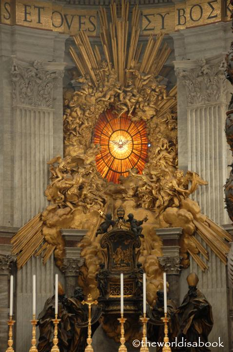 St Peter's basilica cathedra petri image