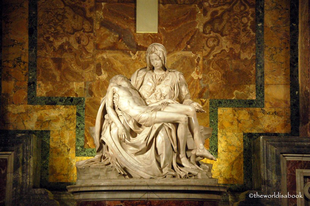Michelangelo Pieta inside St Peter's Basilica