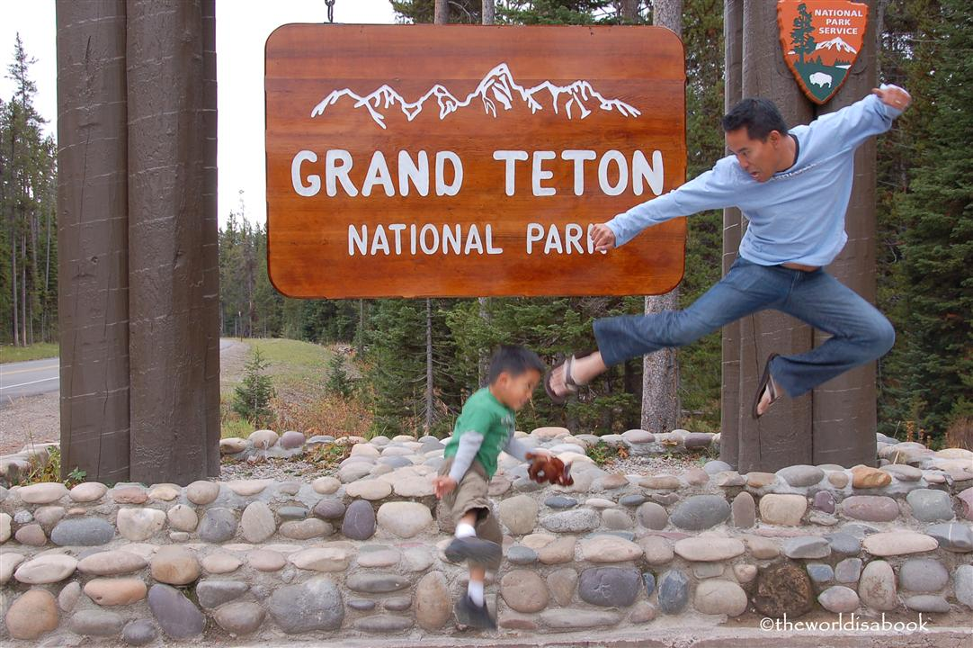 Grand Teton national Park sign image