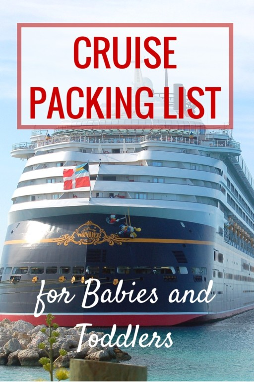 Cruise Packing List for Babies and toddlers