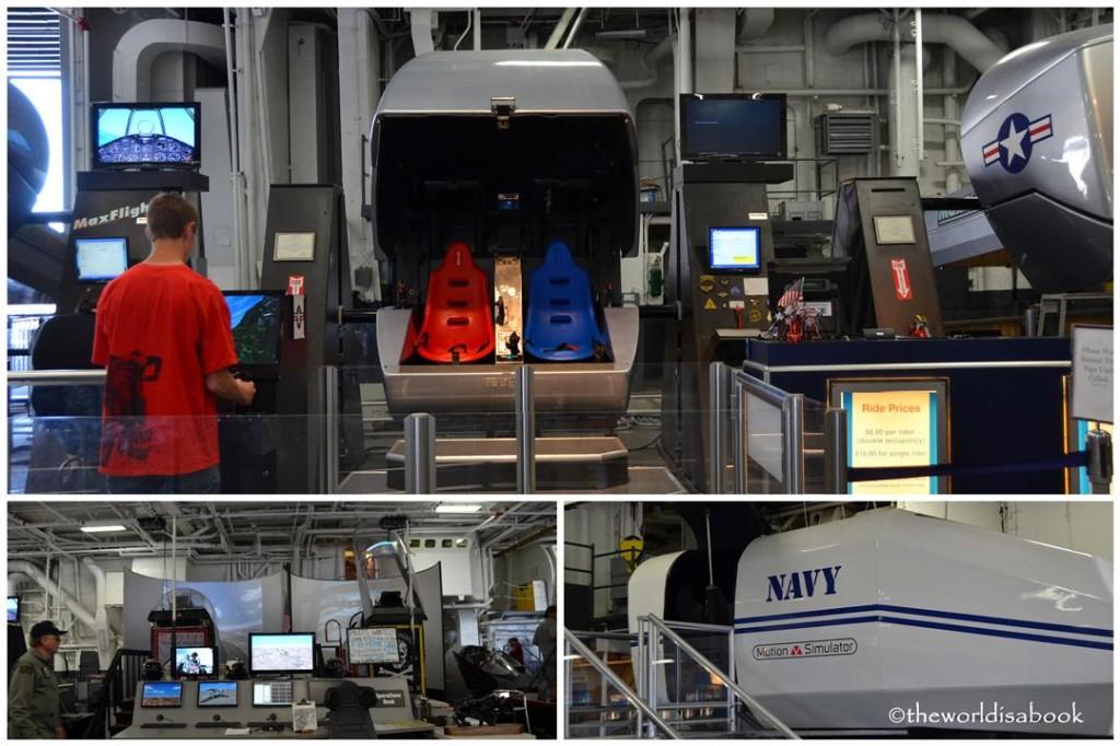 USS Midway museum simulator rides