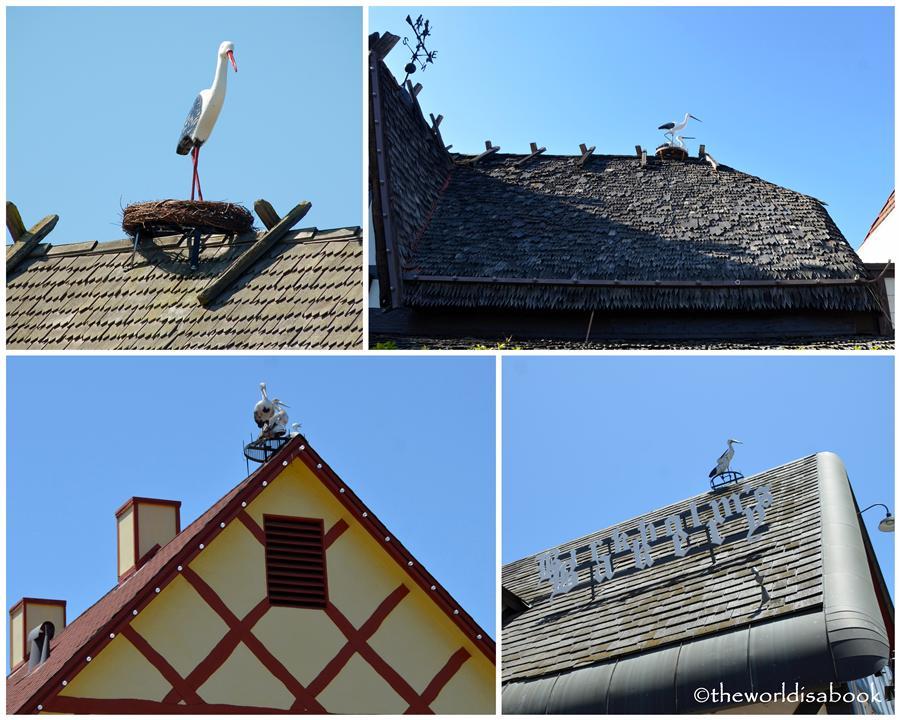 Solvang stork image