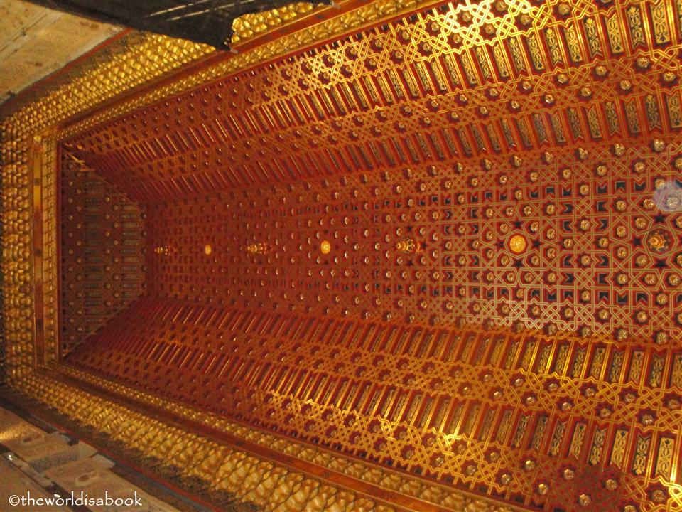 Alcazar of Segovia throne room ceiling