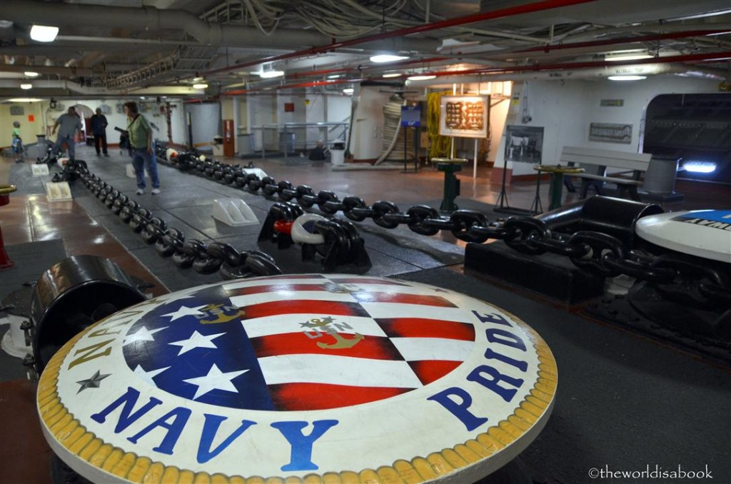 USS Midway museum anchor room image