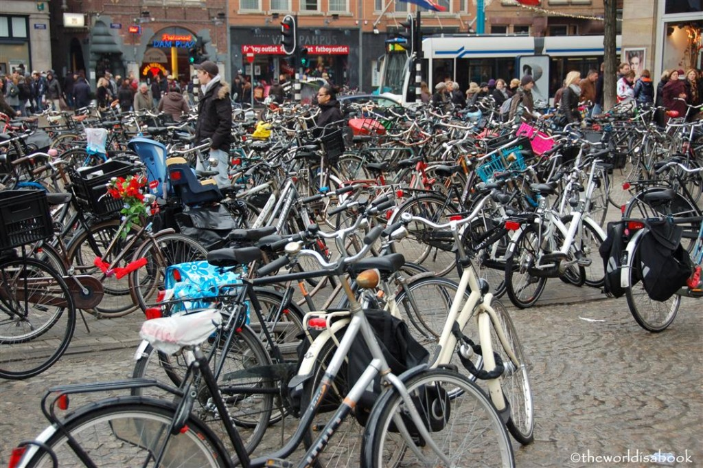 Amsterdam bikes at DAM Square