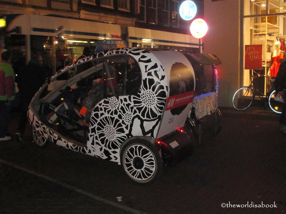Amsterdam bike taxi