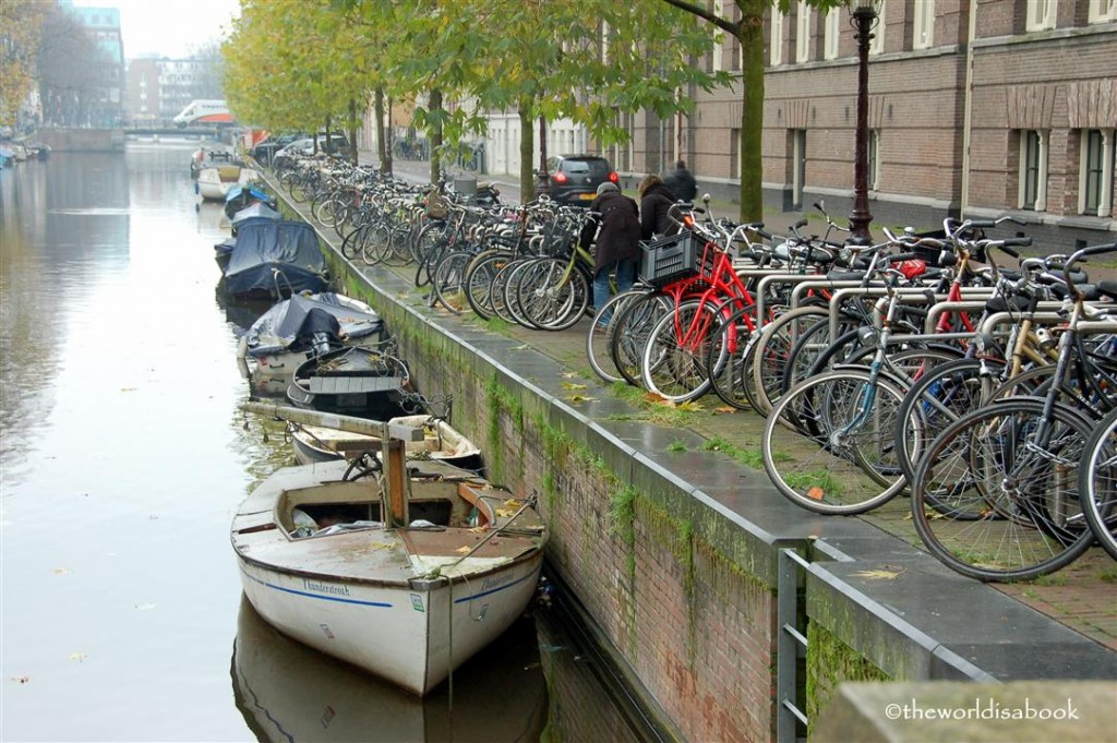 Amsterdam canal bikes