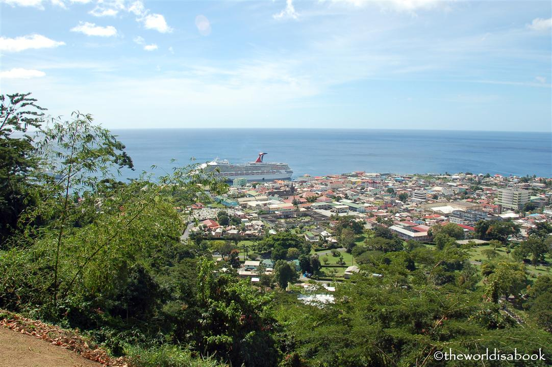 Morne Bruce Dominica view of Roseau image