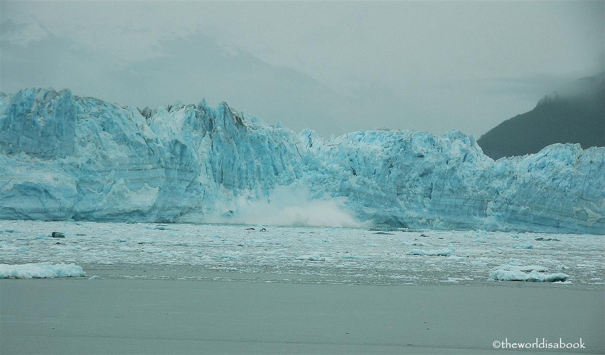 Hubbard glacier calving alaska