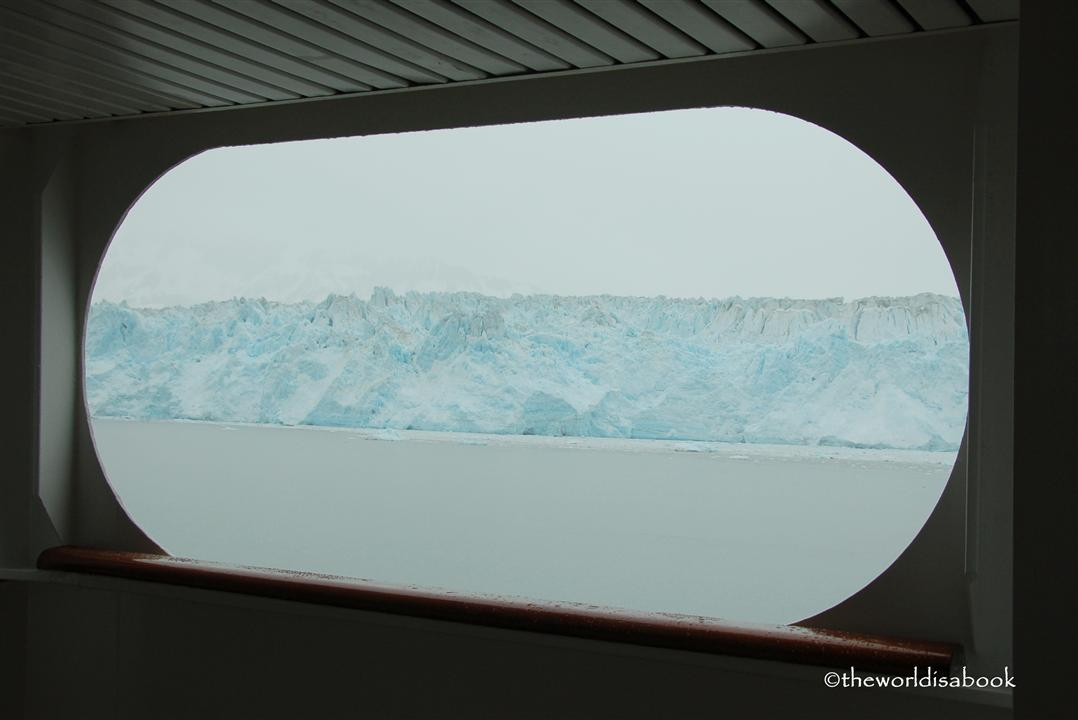 Hubbard Glacier through a cruise ship