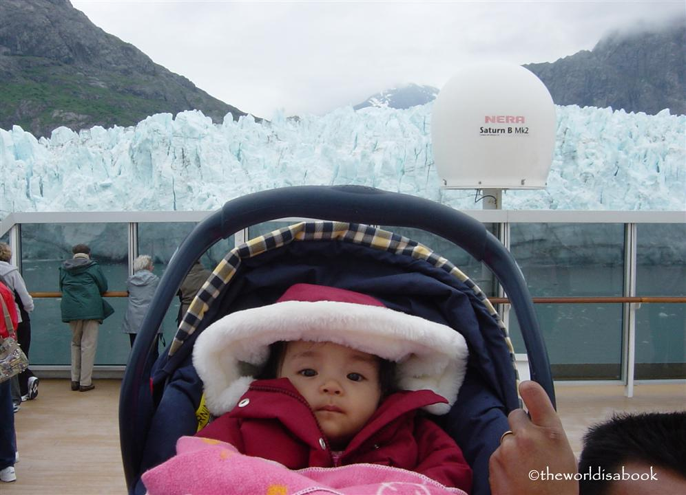 Margerie Glacier with baby