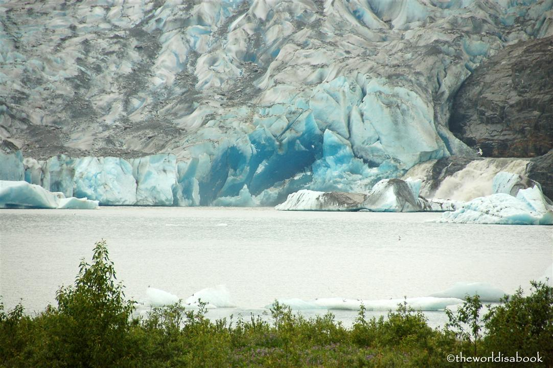 Mendenhall Glacier blue color