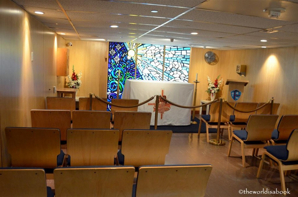 USS Midway museum chapel