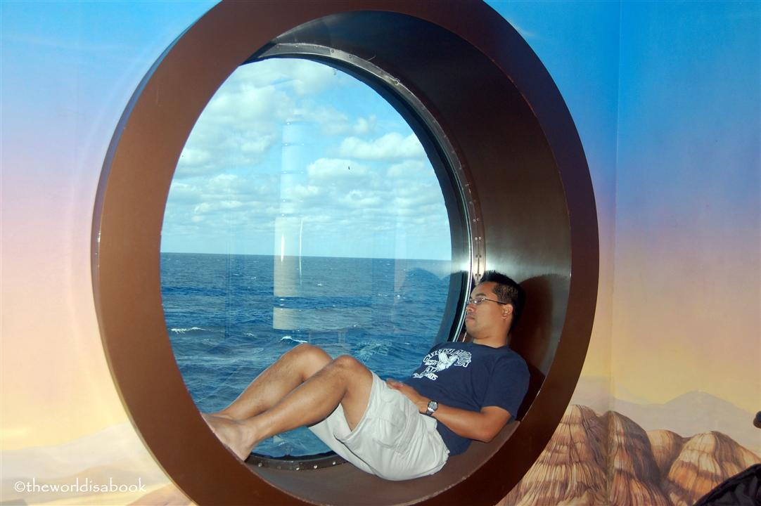 Cruise ship porthole nap image