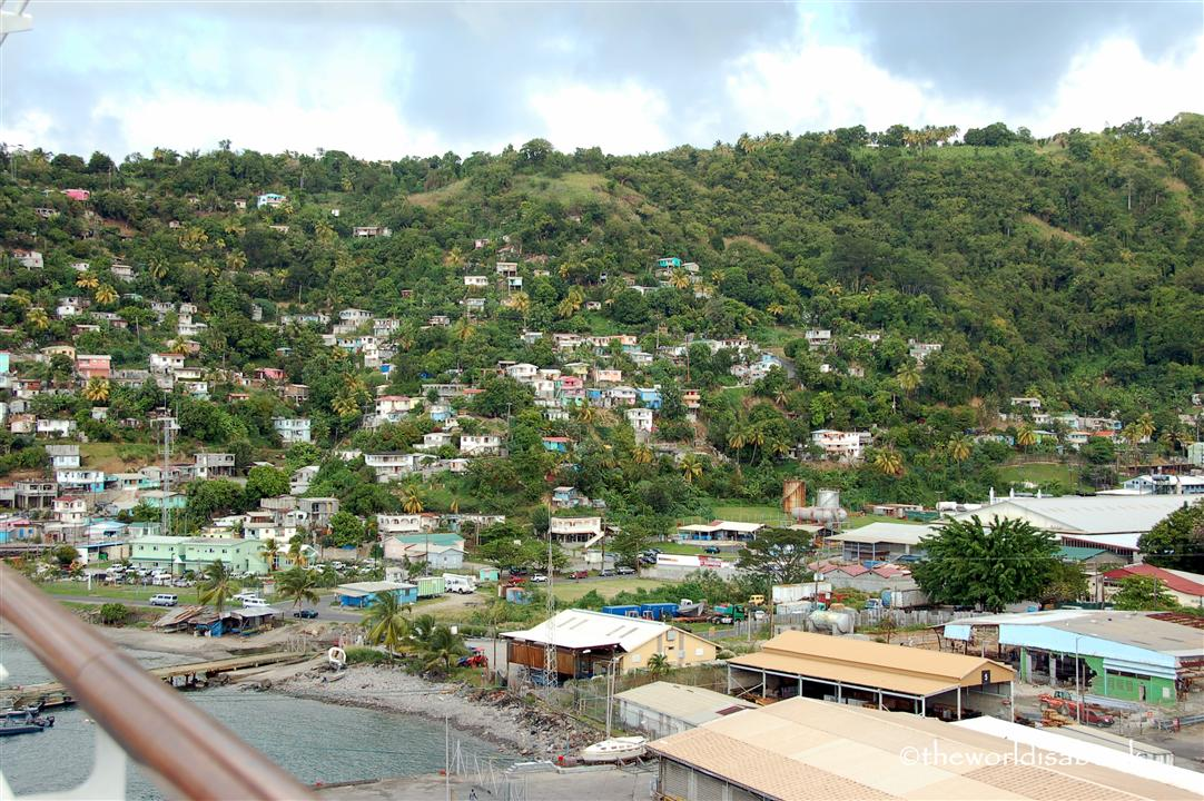 Dominica hillside view image