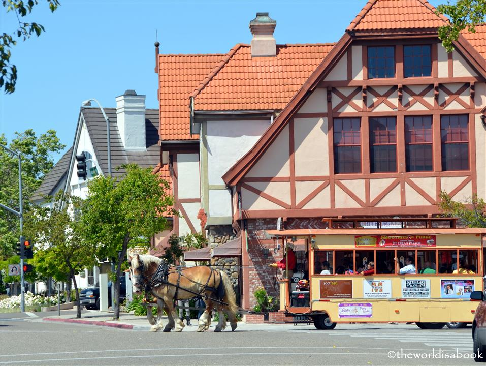 Solvang horse-drawn trolley