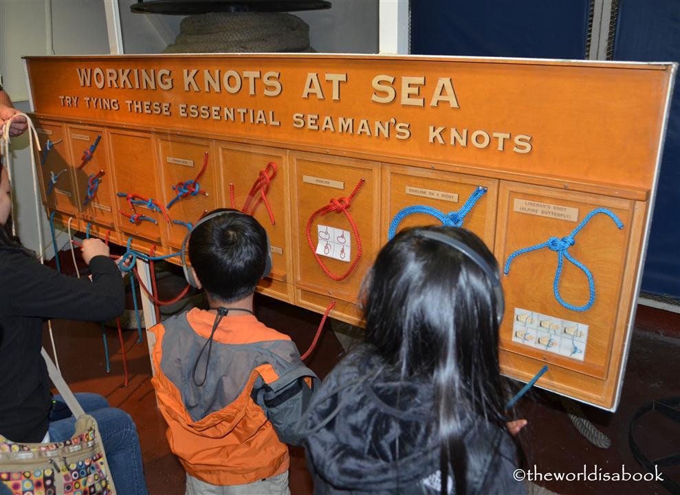 USS Midway Museum seaman's knots