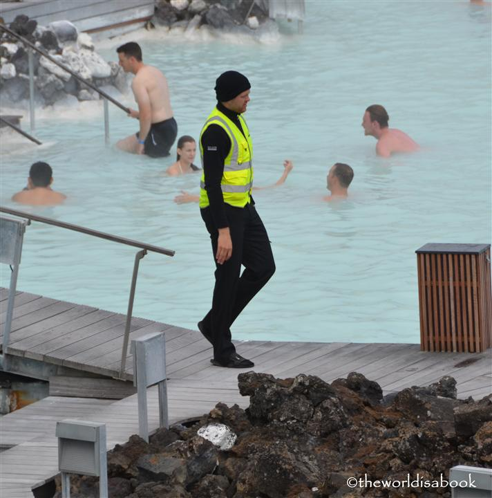 Iceland Blue Lagoon lifeguard