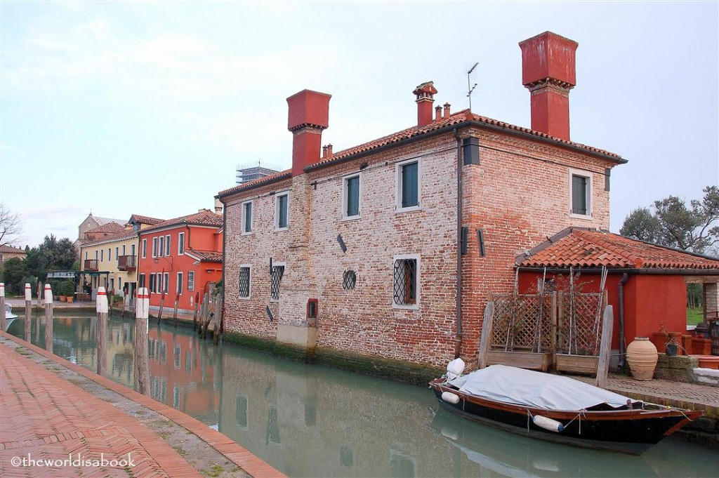 Torcello Italy canal and houses image