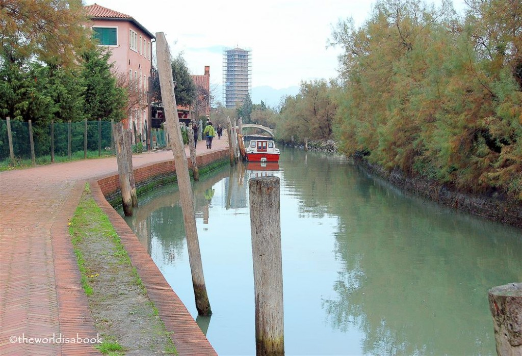 Torcello italy walkway and canal image