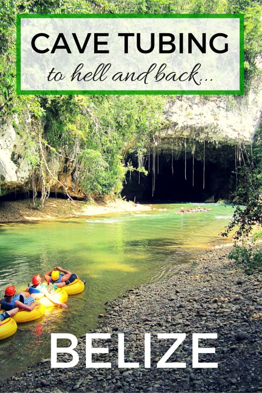 Cave tubing in Belize with kids