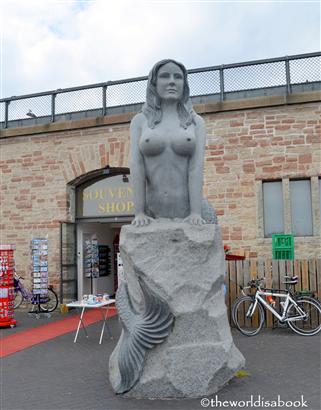 Copenhagen other mermaid statue