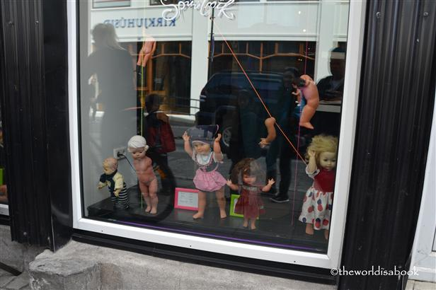 Reykjavik doll window display