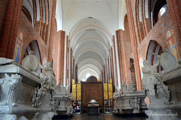 Roskilde cathedral behind altar