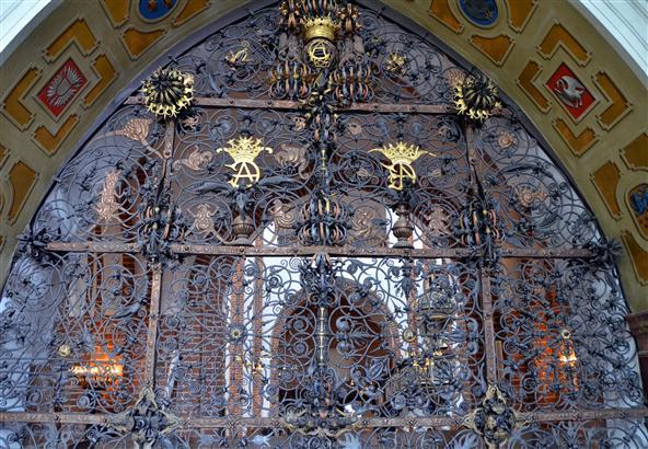 Roskilde Christian IV chapel ironwork