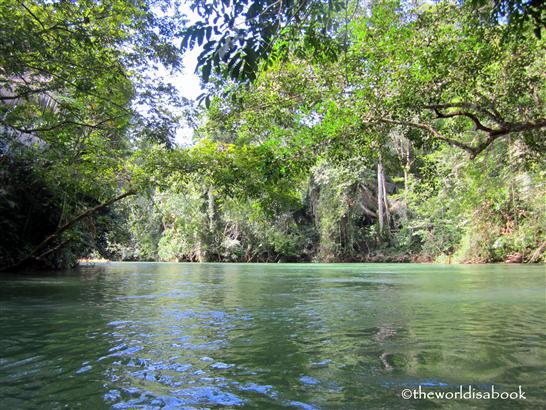 Belize cave tubing river