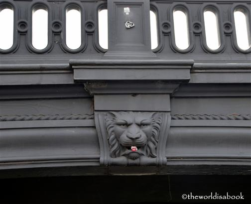 Copenhagen canal bridge lion