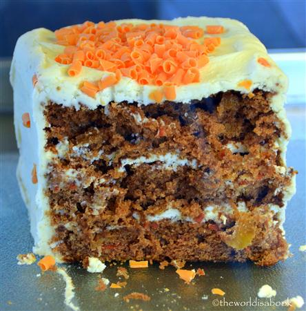 Iceland hamburger Factory carrot cake