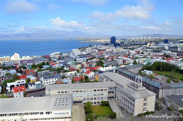 Hallgrimskirkja tower view reykjavik