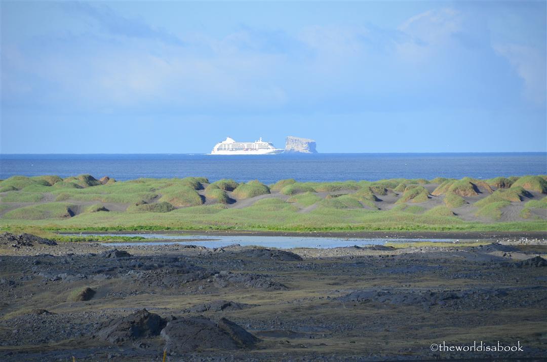 Iceland eldey island and cruise ship