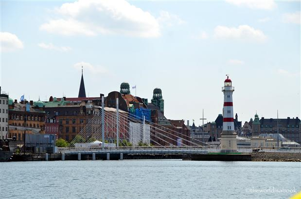 Malmo Harbor Bridge and Lighthouse