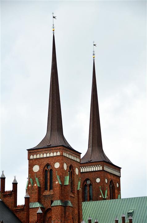 Roskilde cathderal spires