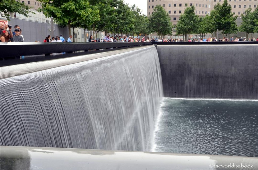 9/11 Memorial side fountain