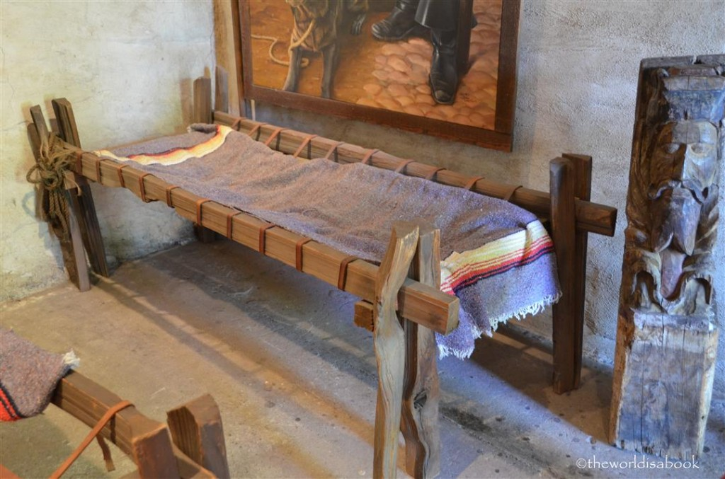 Mission San Juan capistrano museum bed