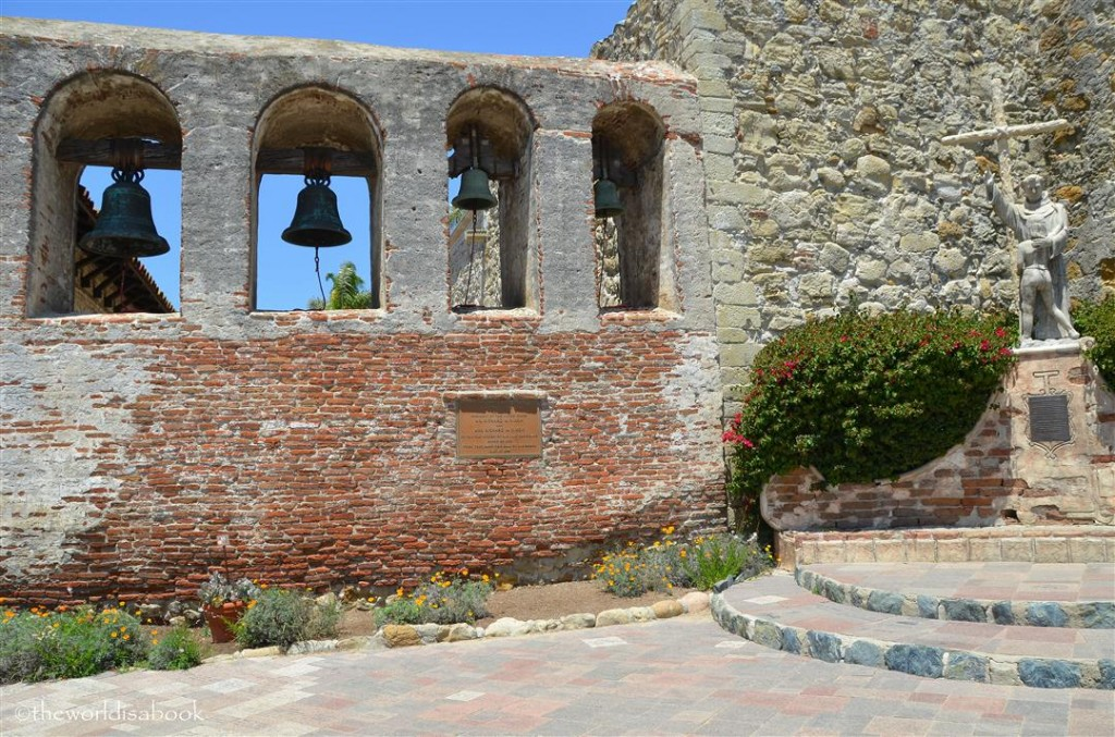 Mission San Juan Capistrano bell wall