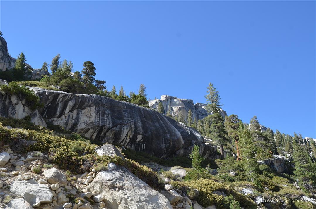 Tioga Road Granite cliffs