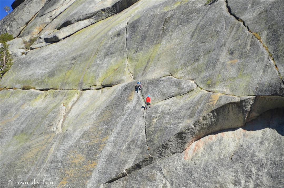 Tioga road rock climbers