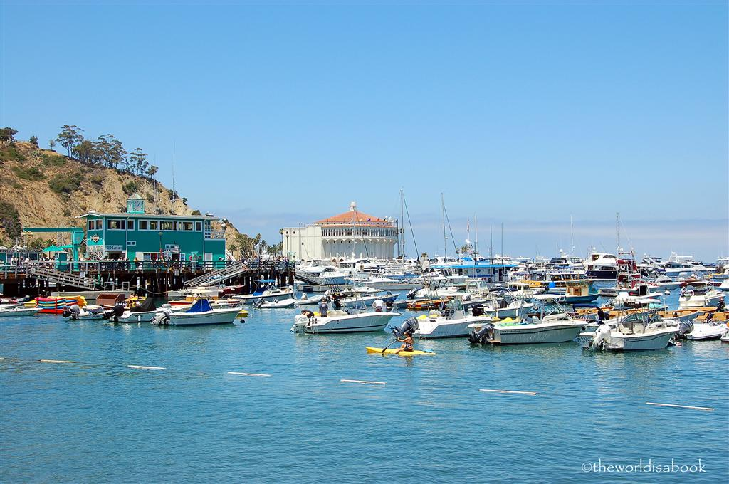 Catalina Island harbor and casino