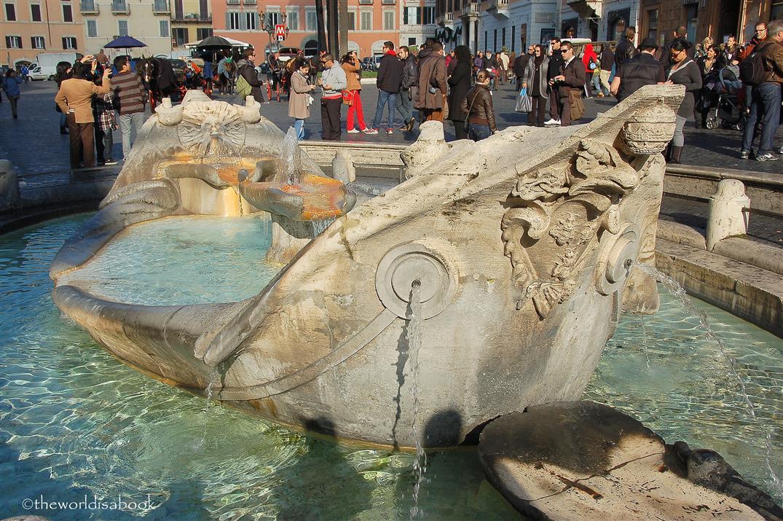 Rome Spanish Steps fountain Fontana della Barcaccia