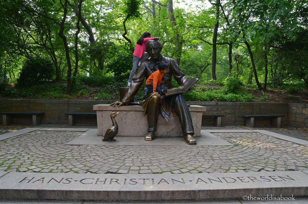 central park hans christian andersen statue