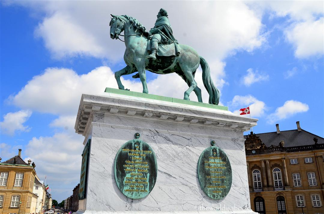 Amalienborg Palace equestrian statue