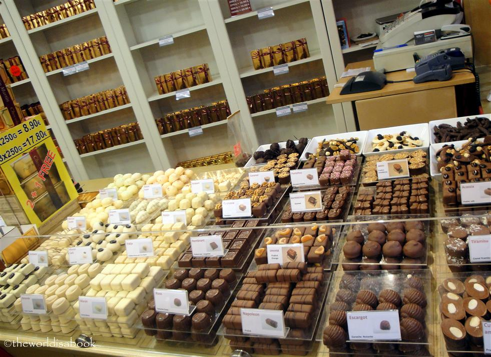 Brussels chocolate samples