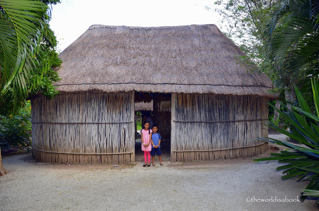 Chankanaab Mayan hut