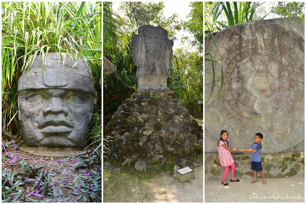 Chankanaab mayan sculptures