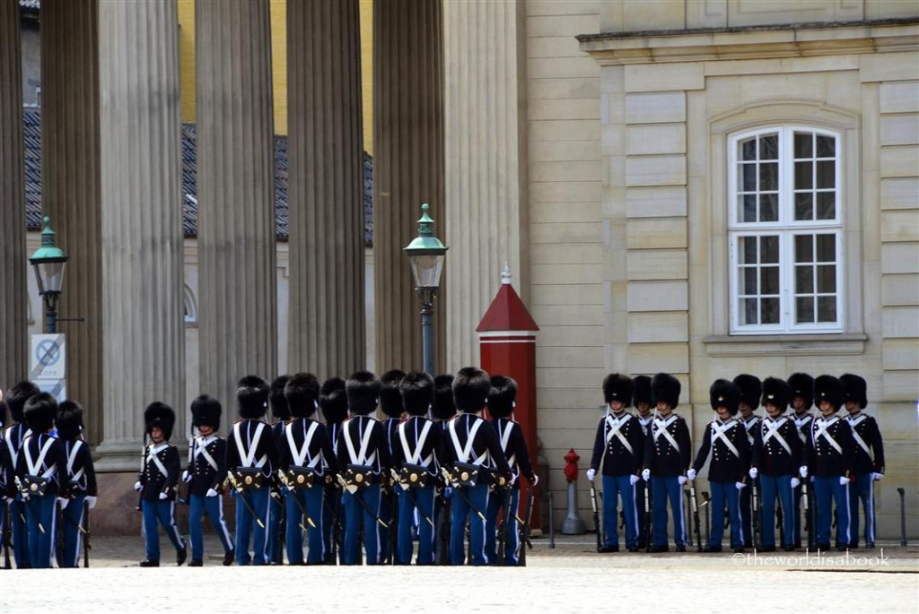 Danish Royal life Guards at amalienborg Palace